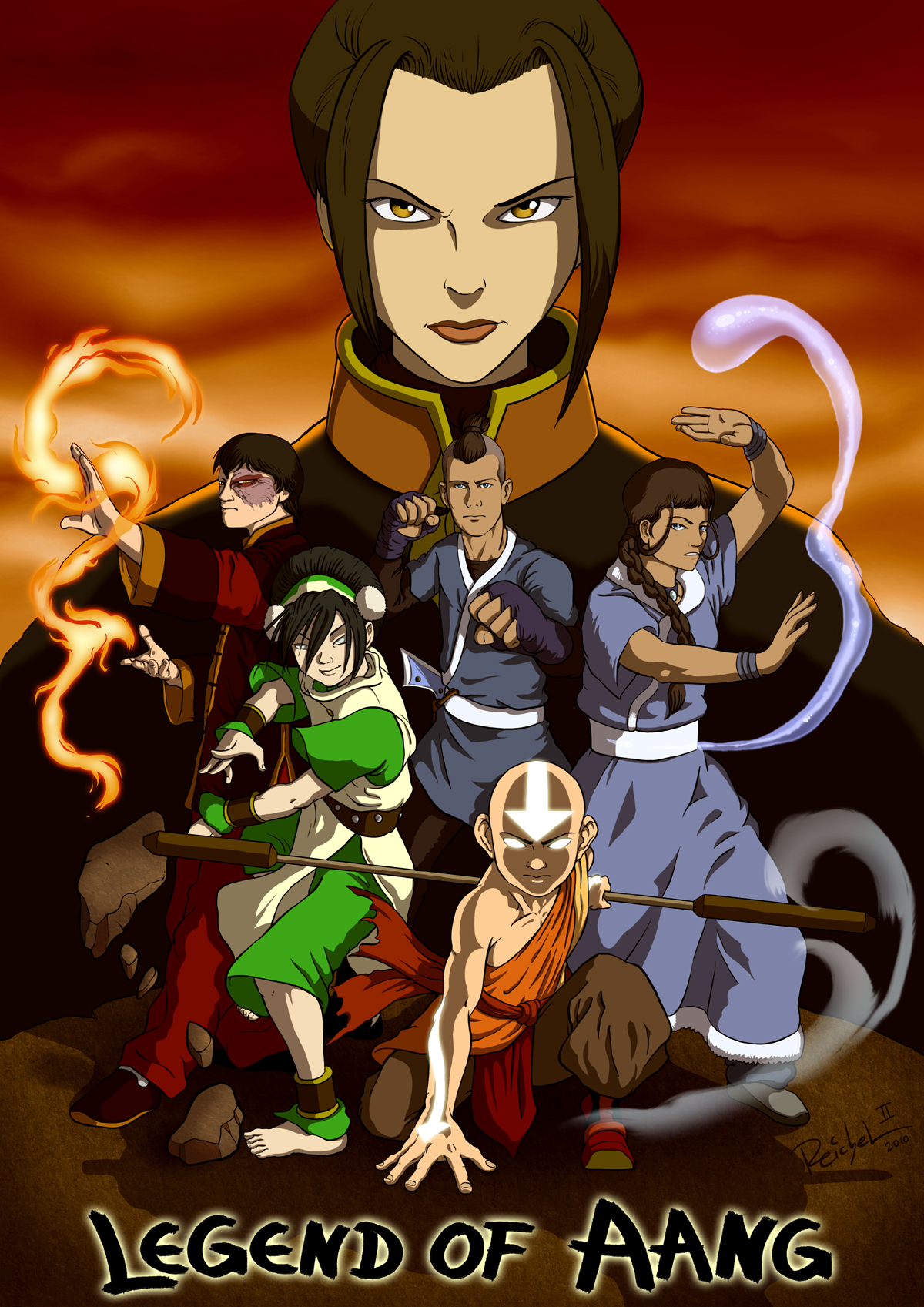 Legend of aang ein fan artwork zu der cartoon serie avatar the legend